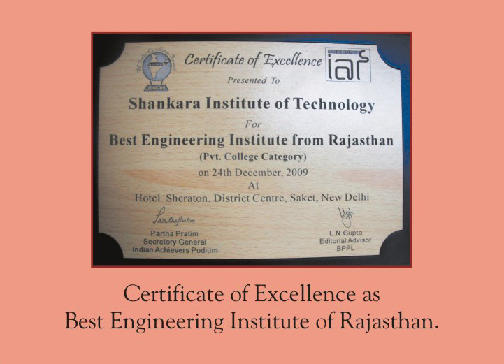 Education Award for Best Engineering Institute of Rajasthan