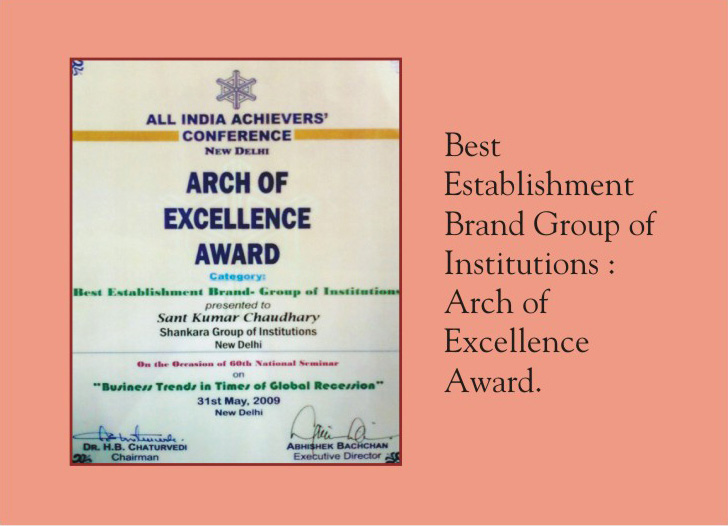 Education Award for Best Establishment Group of Institutions
